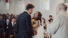 The stunning wedding video of Katie and Andy